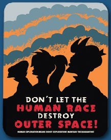 Futurama Tin Sign Dont Let The Human Race Destroy Outer Space
