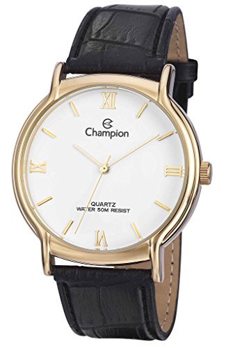 Champion CN20006B Men's Watch Classic White Dial With Gold-Tone Stainless Steel Case (Mens Champion Watches compare prices)