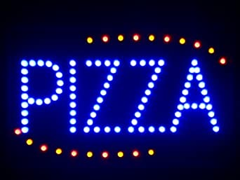 lampe neon enseigne lumineuse led nled008 b pizza shop open led neon business light sign amazon. Black Bedroom Furniture Sets. Home Design Ideas