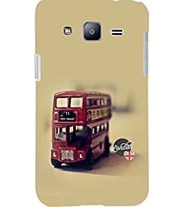 PrintDhaba RED BUS D-6119 Back Case Cover for SAMSUNG GALAXY J2 (Multi-Coloured)