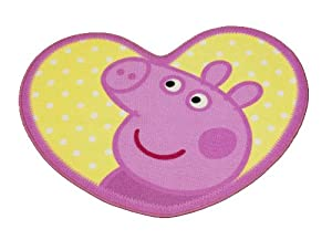 Character World Peppa Pig Adorable Shaped Rug from Character World