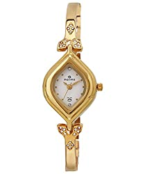 Maxima Gold Analog White Dial Womens Watch - 22381BMLY