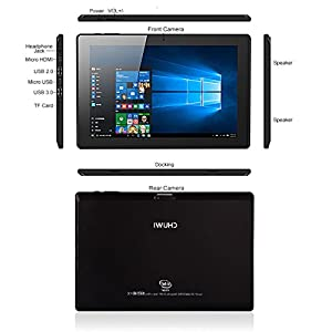 CHUWI Hi10 10.1 Inch 1920 x 1200 IPS Screen Windows 10 and Android 5.1 Dual OS 4GB / 64GB Intel Z8300 Quad-Core Ultrabook Tablet PC by Chuwi