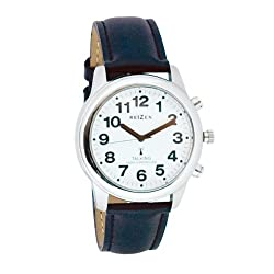 Talking Radio Controlled Stainless Watch Leather