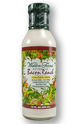 Walden Farms Bacon Ranch Dressing, Sugar Free, Calorie Free, Fat Free, Carb Free, Gluten Free, 12 oz