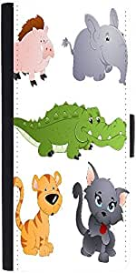 Snoogg Cute Animals Vectors Designer Protective Flip Case Cover For Samsung G...