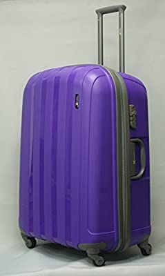"Luggage X - Set of 3 Lightweight Hard Shell Purple Trolley Suitcases 30"" + 26"" + 22"" - NEXT DAY DELIVERY*"
