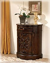 Hot Sale Norcastle Traditional Dark Brown Accent Cabinet
