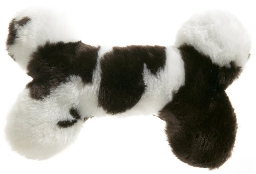 West Paw Design Zoo Bone Animal Print Squeak Toy for Dogs, Cow