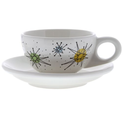 Atomic Starburst Cup And Saucer