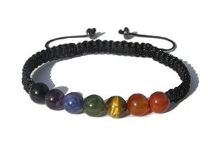 "ZENstore Chakra Bracelet Shamballa Handmade, Gemstones, S 6-7"", Gift Box"