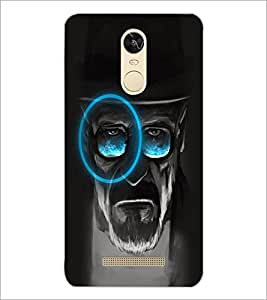 PrintDhaba Hat Man D-5082 Back Case Cover for XIAOMI REDMI NOTE 3 (Multi-Coloured)