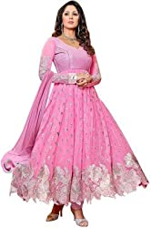 Fashion Valley Embroided Georgette Anarkali Dress Material