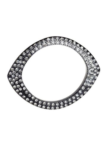 Belle Noel By Kim Kardashian Plated Eye Bangle - Gunmetal/Clear