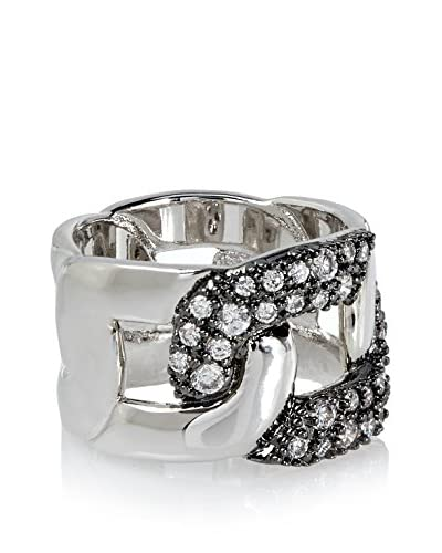 CZ by Kenneth Jay Lane Open Front Link CZ Ring