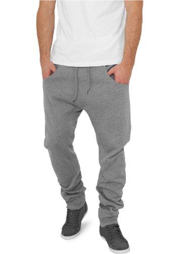 """Urban Classics pantaloni da jogging """"deep forcella in felpa"""", dimensioni: M, colore: grigio"""
