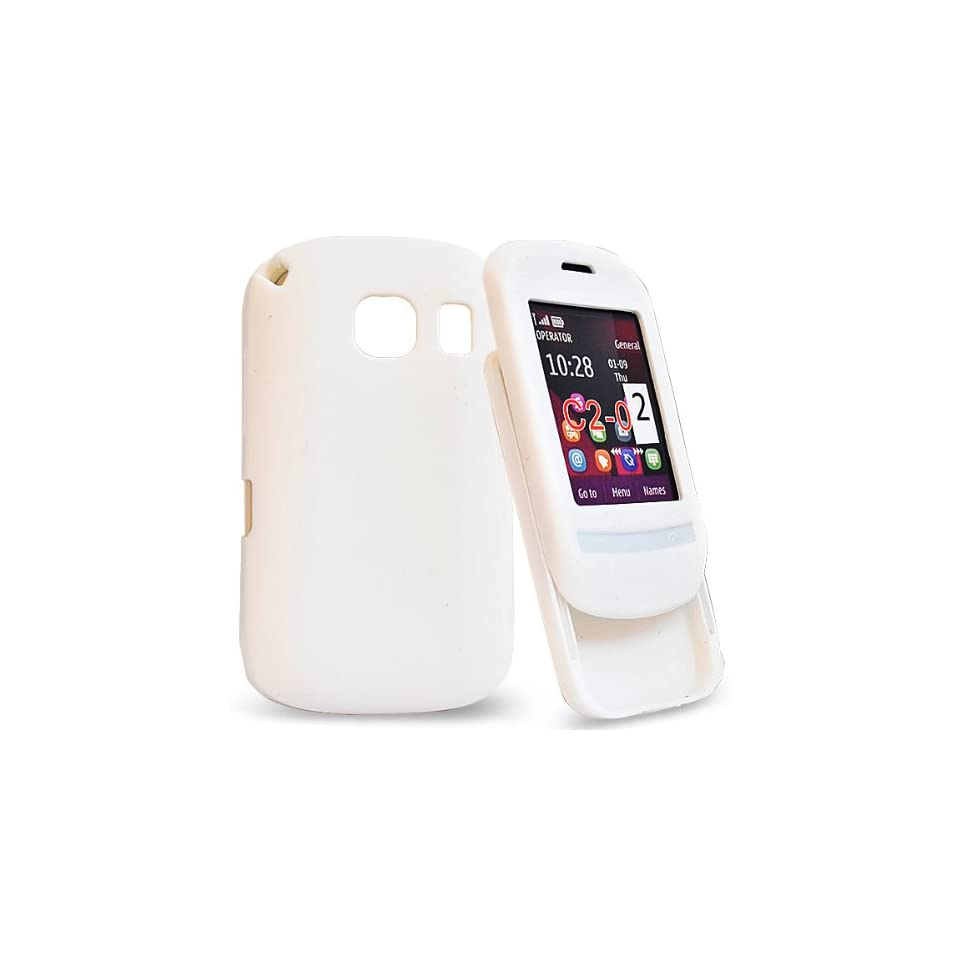 Mobile Palace   White silicone case cover pouch holster for nokia c2 02