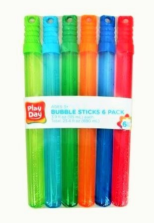 Play Day Bubble Sticks 6 Pack