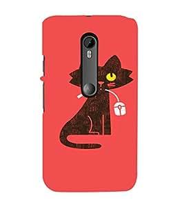 EPICCASE Cat With Mouse Mobile Back Case Cover For Moto G 3rd Gen (Designer Case)