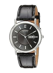 Citizen Men's BM8240-03E Eco-Drive Stainless Steel, Black Leather Strap Watch