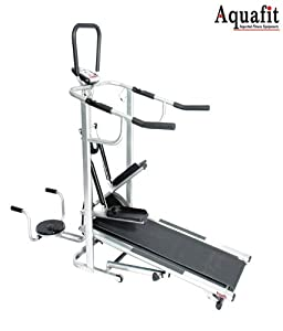 AquaFit AQ1005 4 in 1 Imported Manual Treadmill available at Amazon for Rs.11059