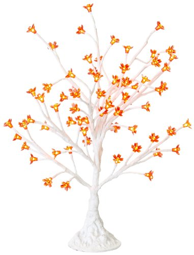 Arclite Nbl-050-4 Cherry Blossom Tree, 2.5' Height, With White Trunk, Red Crystals And Red Lights