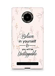 AMEZ believe in yourself and you will be unstoppable Back Cover For YU Yupheria