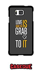 Caseque Love is Rare.. Back Shell Case Cover for Samsung Galaxy Alpha