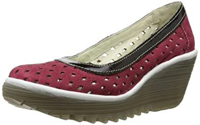 Fly London Women's Yeo Perf Court Shoes P500479012 Ruby/Black/Off White 3 UK, 36 EU