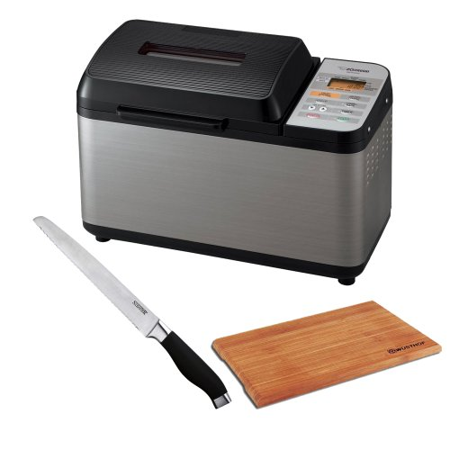 "Zojirushi Bb-Pac20 Home Bakery Virtuoso Breadmaker + Soft Grip Bread Knife, 7"" + Accessory Kit front-557855"