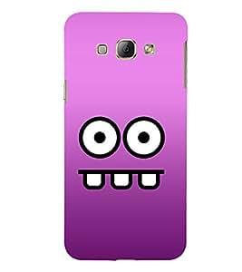 Printvisa Lite Cartoon Face Backcover For Samsung A8 (Brown)