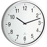 Bahnhofsuhr Funkuhr 50 cm Durchmesser Echtglas Alurahmen