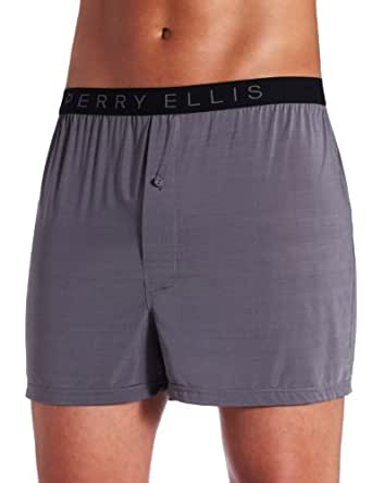 Perry Ellis Luxe Solid Boxer Short (163009) S/Castlerock
