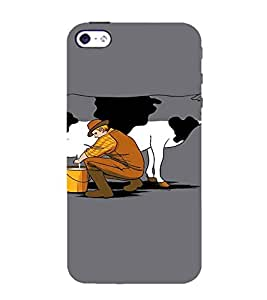 EPICCASE Cow milk Mobile Back Case Cover For Apple iPhone 5s (Designer Case)