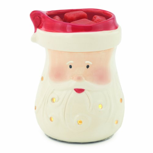 Candle Warmers Etc. Round illumination Fragrance Warmer- Santa