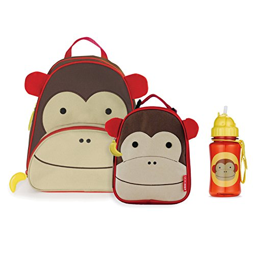 Skip Hop Zoo Backpack, Lunchie, and Bottle Set - Monkey - 1