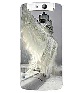 ColourCraft Beautiful Castle Design Back Case Cover for OPPO N1
