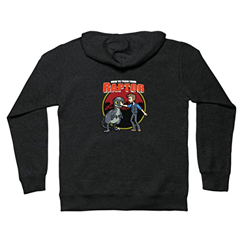 How To Train Your Raptor - Teepublic Unisex Medium Classic Zip Hoodie
