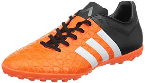 adidas PerformanceACE15.4 TF - Scarpe da Calcio Uomo , Arancione (Orange (Solar Orange/Ftwr White/Core Black)), 41 1/3