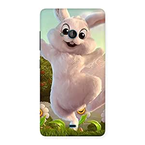 Ajay Enterprises Powerful Bunny Funny Back Case Cover for Lumia 540