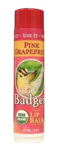BADGER バジャー バジャー クラシックリップバームスティック ピンクグレープフルーツ 4.2g