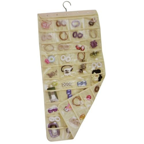 Hanging Jewelry & Accessory Holder 80-Pockets 2-Sided