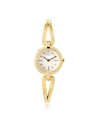 ESQ Movado Women's 07101444 Corbel Gold/White Stainless Steel Watch