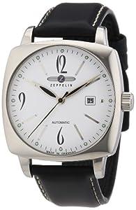 Zeppelin Watches - Reloj analógico de cuarzo para hombre con correa de piel, color negro