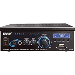 Pyle Home PCAU46A 2 x 120 Watts Mini Power Amplifier with LED Display