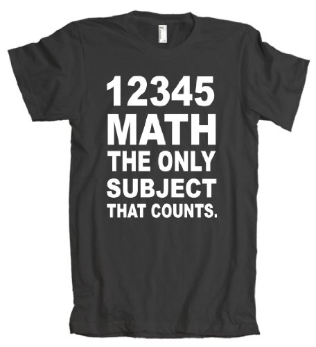 12345 Math The Only Subject That Counts American Apparel T-Shirt