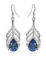 Crystal Pearl Pendientes blue