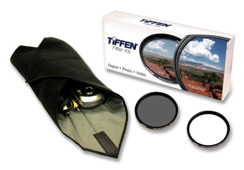 Tiffen 72mm Lens Kit includes Digital Ultra Clear Filter, plus Circular Polarizer Filter and Accessory Wrap