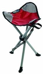 TravelChair Slacker Chair Folding Tripod Camp Stool, Red