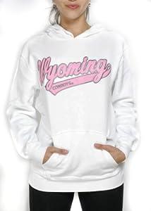 NCAA Wyoming Cowboys Hoodie Hooded Sweatshirt (White - ) by J America Sportswear